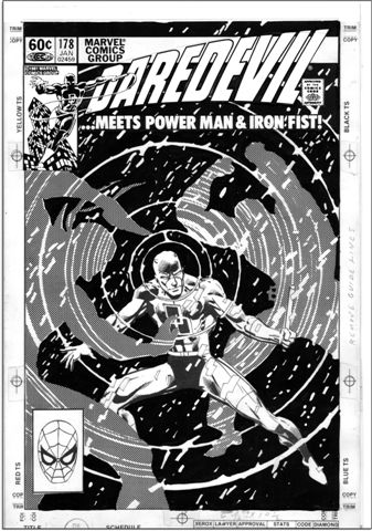 Frank Miller Daredevil #178 Cover Art