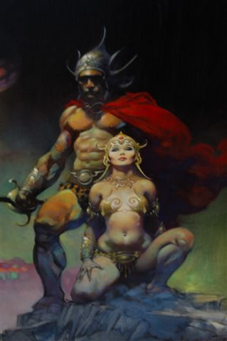 Frank Frazetta Oil Painting